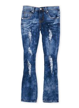 Girl 7-16 Destroyed Whisker Wash Skinny Jeans - 1629063400056