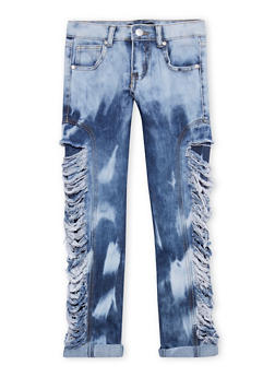 Girls 7-16 Destroyed Rip and Repair Jeans - 1629063400075