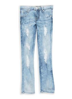 Girls 7-16 Distressed Light Wash Skinny Jeans - 1629063400077