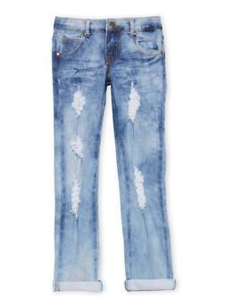 Girls 7-16 Cloud Wash Skinny Jeans - 1629063400078