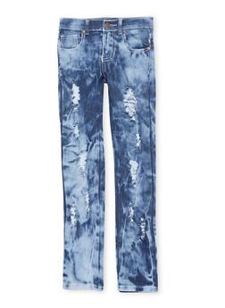 Girls 7-16 Medium Wash Distressed Jeans - 1629063400080