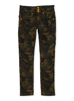 Girls 7-16 VIP Camo Print Skinny Pants - 1629065300039