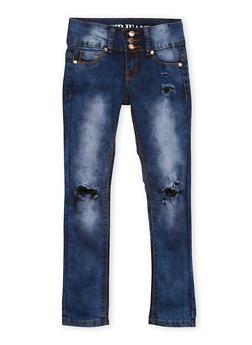 Girls 7-16 Distressed Skinny Jeans - 1629065300046