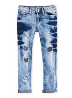 Girls 7-16 VIP Bleach Ripped Skinny Jeans - 1629065300050