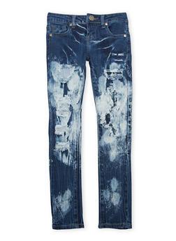 Girls 7-16 VIP Distressed Skinny Jeans - 1629065300060
