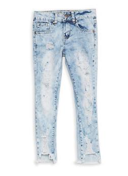 Girls 7-16 VIP Destruction Skinny Jeans - 1629065300067
