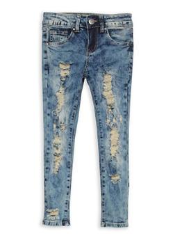 Girls 7-16 VIP Destruction Skinny Jeans - 1629065300071