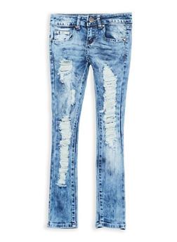 Girls 7-16 VIP Destruction Skinny Jeans - 1629065300075