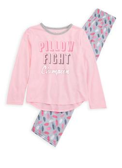 Girls 7-16 Pillow Fight Champion Pajama Set - PINK - 1630054730020