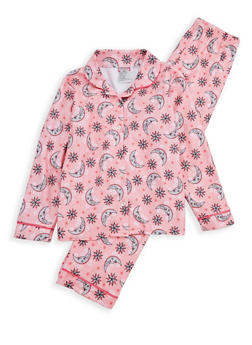 Girls 7-16 Printed Pajama Set - CORAL - 1630054730032