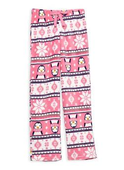 Girls 7-16 Feather Fleece Pajama Pants - LT PINK - 1630054730051