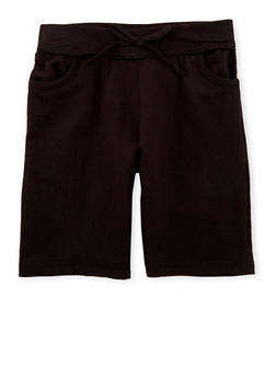 Girls 7-16 Soft Knit Bermuda Shorts - 1631054737012