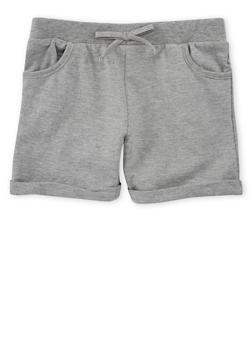 Girls 7-16 Cuffed Soft Knit Shorts - 1631054737014