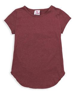 Girls 7-16 Round Hem T Shirt - 1633054730009