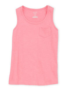 Girls 7-16 French Toast Solid Sleeveless Tank Top - 1633068323318
