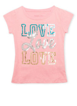 Girls 4-6x Tee with Love Graphic - 1634061950029