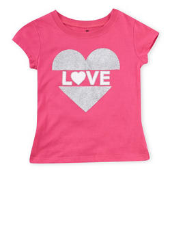 Girls 4-6x Love Graphic T Shirt - 1634061950073