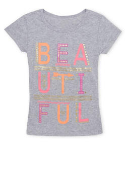 Girls 4-6x Tee with Beautiful Graphic - 1634066590072