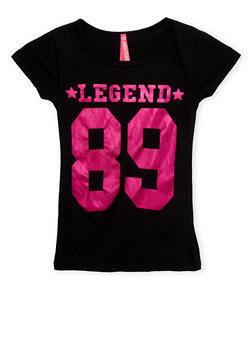 Girls 4-6x Tee with Legend 89 Graphic - 1634066590073