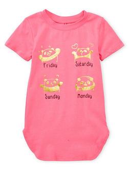 Girls 4-6x Foil Graphic Panda T Shirt - 1634066590104