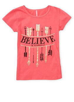 Girls 4-6x Believe in Yourself Graphic Top - 1634066590136