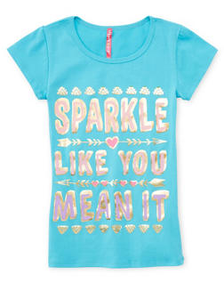 Girls 4-6x Sparkle Like You Mean It Graphic Top - 1634066590138