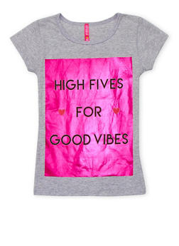 Girls 4-6x Good Vibes Graphic Top - 1634066590140