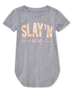 Girls 4-6x Slay N All Day Graphic Tunic T Shirt - 1634066590142