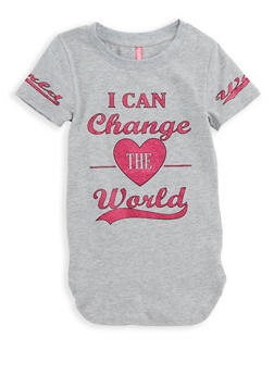 Girls 4-6x Change the World Graphic T Shirt - 1634066590153