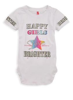 Girls 4-6x Happy Girls Graphic T Shirt - 1634066590154