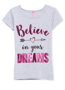 Girls 4-6x Tee with Believe in Your Dreams Graphic - 1634066599058