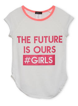 Girls 4-6x Ringer Tee with The Future Is Ours Graphic - 1634072170039