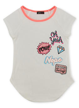 Girls 4-6x Tee with Patch Graphics - 1634072170041