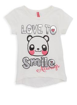 Girls 4-6x Foil Graphic T Shirt - 1634074410015