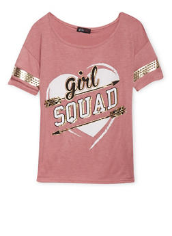 Girls 7-16 Girl Squad Graphic Varsity Top - 1635029890028