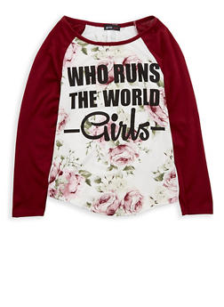Girls 7-16 Floral Graphic Top - 1635029890080