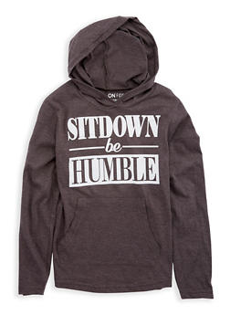 Girls 7-16 Humble Graphic Hooded Top - 1635033870096