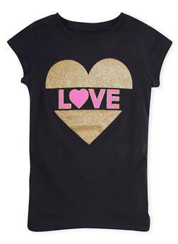 Girls 7-16 Short Sleeve Love Graphic T Shirt - 1635061950188