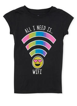 Girls 7-16 All I Need is Wifi Graphic T Shirt - 1635061950193