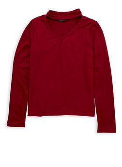 Girls 7-16 Soft Knit Keyhole Top - 1635061950214
