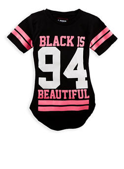 Girls 7-16 Black is Beautiful Graphic Top - 1635063400002