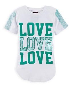 Girls 7-16 Love Graphic T Shirt - 1635063400006