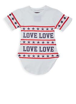Girls 7-16 Americana Love Graphic T Shirt - 1635063400015
