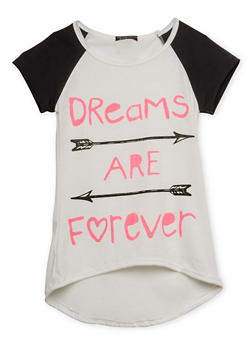 Girls 7-16 Tee with Dreams are Forever Graphic - 1635066590022