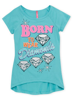 Girls 7-16 Graphic Tee with High Low Hem - 1635066590030