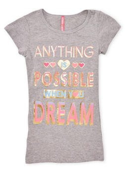 Girls 7-16 Anything is Possible Graphic Tee - 1635066590065
