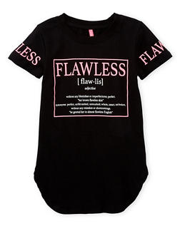 Girls 7-16 Short Sleeve Flawless Graphic Top - 1635066590073