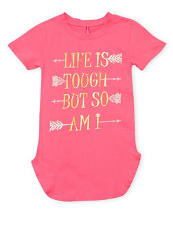 Girls 7-16 Life Is Tough But So Am I T Shirt - 1635066590104