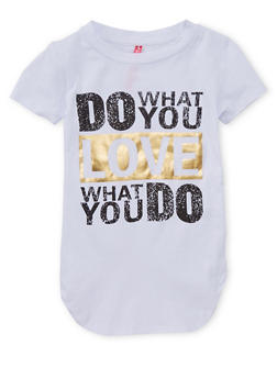 Girls 7-16 Do What You Love Graphic T Shirt - 1635066590105