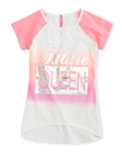 Girls 7-16 Future Queen Graphic Raglan Top - 1635066590109